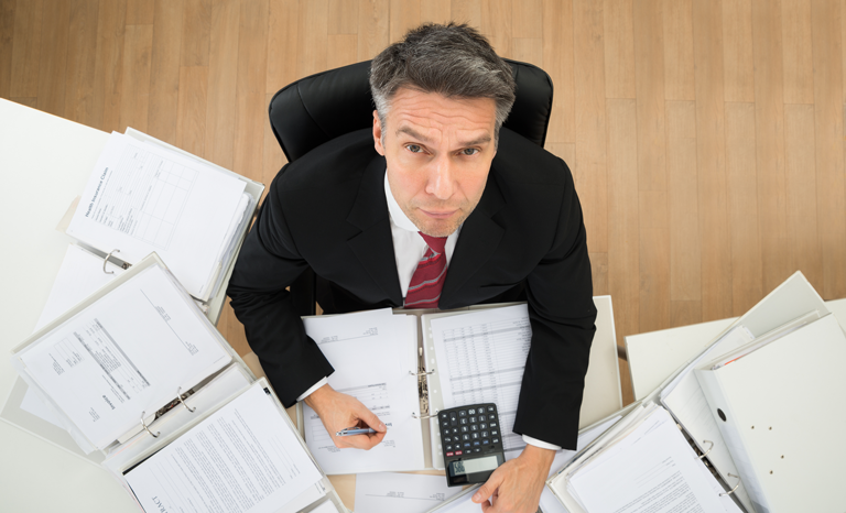 accountant with paperwork